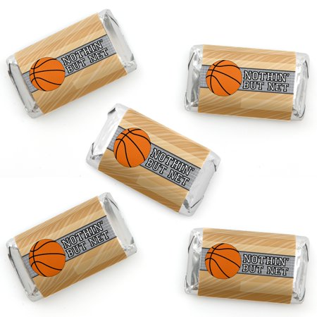 Basketball Themed Birthday Party (Nothin' But Net - Basketball - Mini Candy Bar Wrappers Baby Shower or Birthday Party Favors - 40)