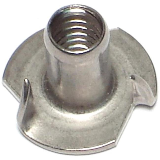 Midwest Fastener 68485 0.25 x 0.56-L Pronged Tee Nuts - 10 Piece