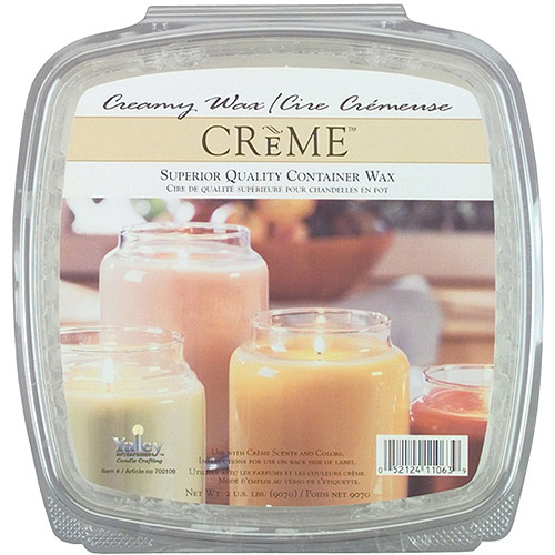 Creme Candle Wax, 2 lb, For Glass Containers