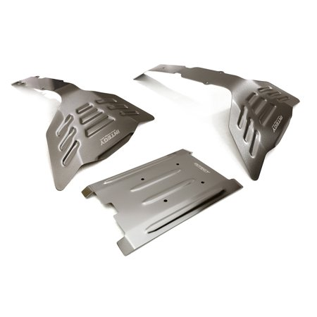 - Integy RC Toy Model Hop-ups C27477GREY Stainless Steel (Coated) Skid Plate Kit for Traxxas 1/10 E-Revo & Summit