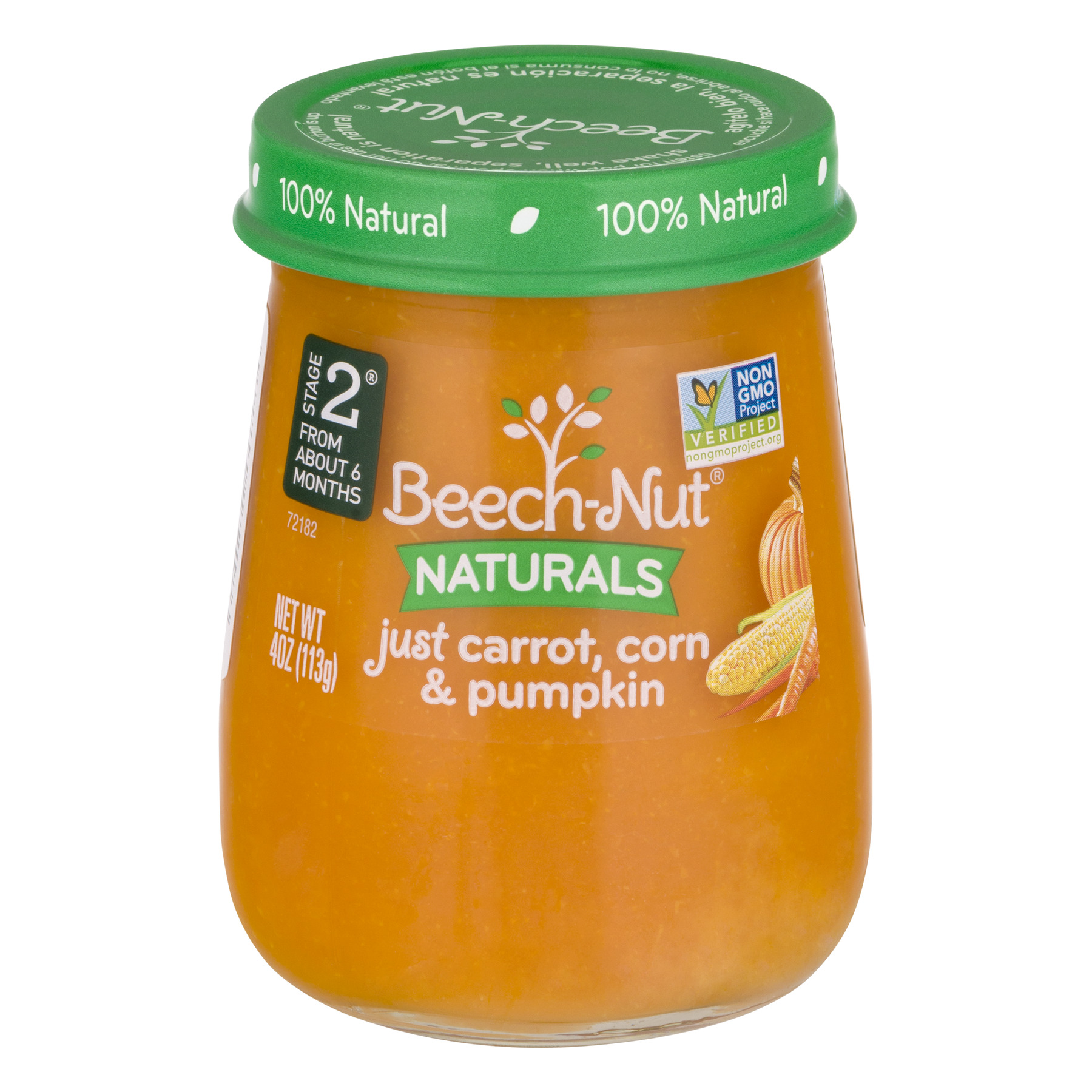 Beech-Nut Naturals Stage 2 Just Carrot, Corn & Pumpkin, 4.0 OZ