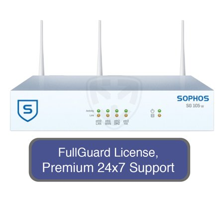 Utm Bundle Firewall Appliance - Sophos SG 105w UTM Wireless Appliance TotalProtect Bundle with 4 GE ports, FullGuard License, Premium 24x7 Support - 1 Year