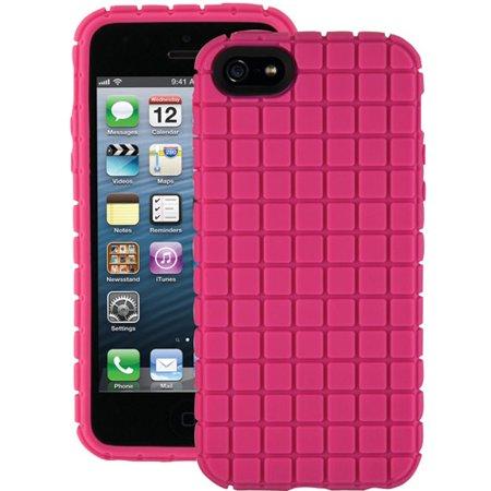 Speck Pixelskin Case iPhone SE 5S 5 Raspberry Pink SPK-A0711 ()