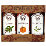 La Tourangelle, Roasted Pecan Oil, Roasted Walnut Oil, Toasted Pumpkinseed Oil Fall/Winter Trio of Oils, 3 x 8.45 oz (3 x 250 ml)