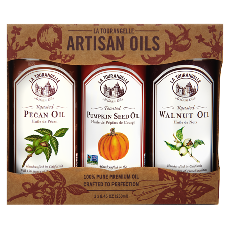 La Tourangelle, Roasted Pecan Oil, Roasted Walnut Oil, Toasted Pumpkinseed Oil Fall/Winter Trio of Oils, 3 x 8.45 oz (3 x 250 (Pecan Oil)