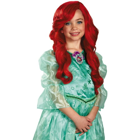 The Little Mermaid Ariel Wig Child Halloween Costume Accessory