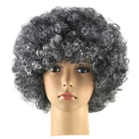 Unisex Afro Short Wig Curly Multicolour Halloween Hair Accessory - Halloween Hair Accessories Uk