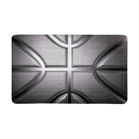 MKHERT Cool Rendering Basketball in Metallic Silver Color Doormat Rug Home Decor Floor Mat Bath Mat 30x18 inch ()