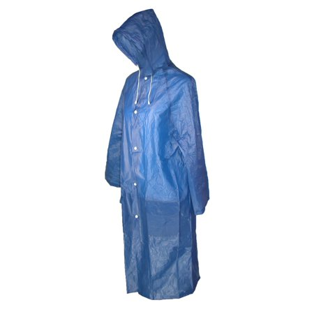 Women's Vinyl Clear Hooded Raincoat,  Navy