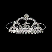 b0faf862e1 Product Image Sweet 15 Quinceanera Mis Quince Anos Silver Crystal  Rhinestone Tiara