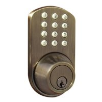 Keyless Entry Deadbolt Door Lock with Electronic Digital Keypad Antique Brass