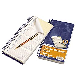 Duplicate Book (Adams Message Book/Phone Call, Carbonless Duplicate, 5.50 x 11 Inches, 400 Sets per Book (SC1154D)(5-pack of books))