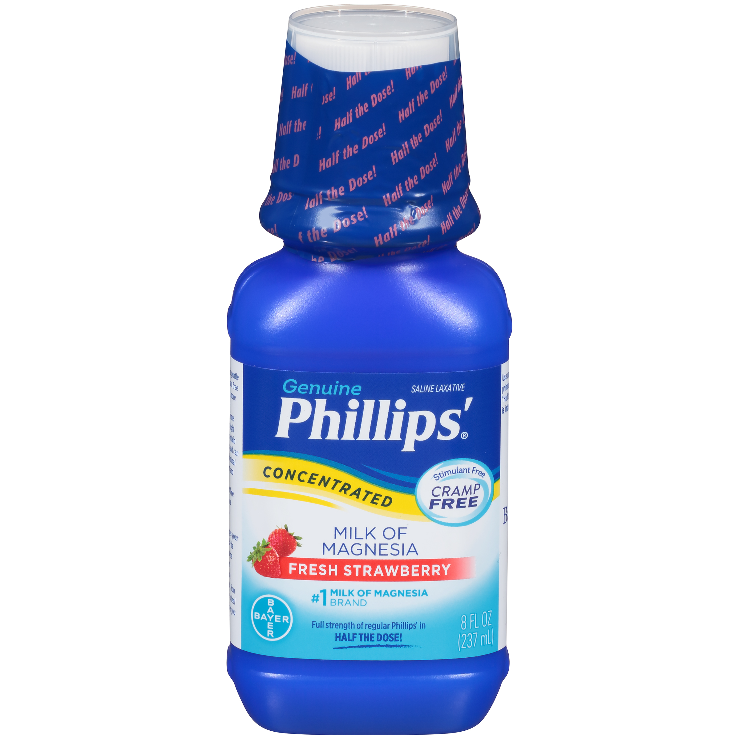 Phillips' Concentrated Milk of Magnesia Laxative, Fresh Strawberry, 8 Fl Oz