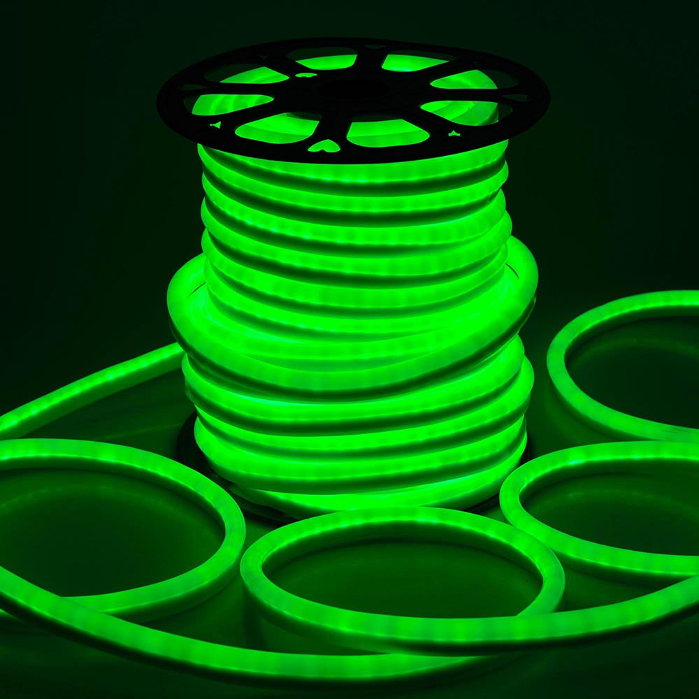 DELight 150 FT 110V Red Flexible LED Neon Rope Light Indoor Outdoor Holiday Valentines Party Decoration Lighting