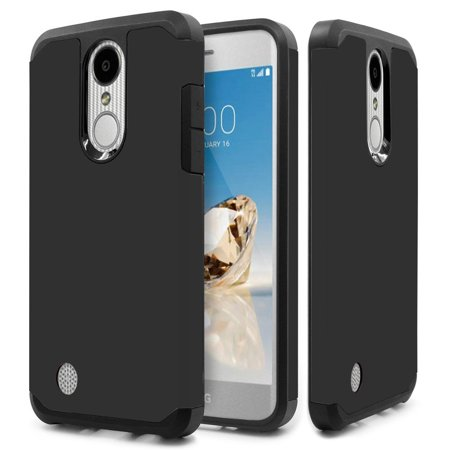 Slim Track - Kaleidio Case For LG Rebel 3 LTE L157BL (TracFone / Straight Talk) [Astro Armor] Rugged Slim Fit [Shock Absorption] [Dual Layer] Hard Hybrid Cover w/ Overbrawn Prying Tool [Black/Black]