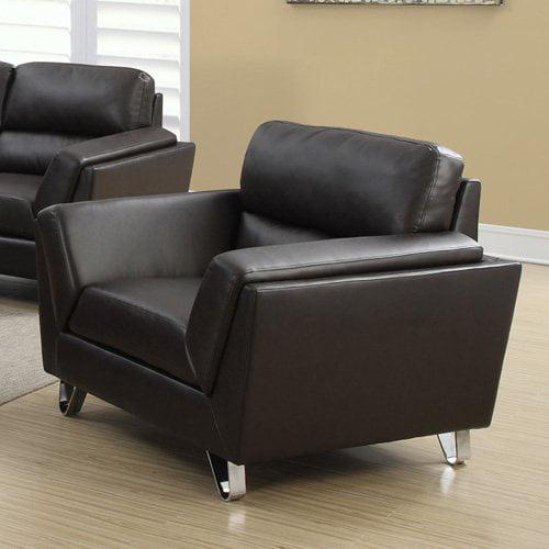 Monarch Specialties Wayland Leather Club Chair