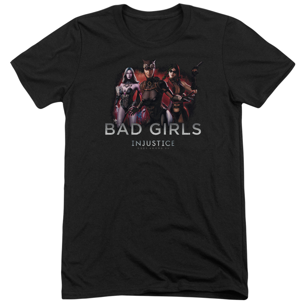 Injustice Gods Among Us Bad Girls Mens Tri-Blend Short Sleeve Shirt