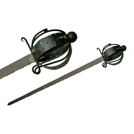 (Szco Supplies Rustic Basket hilt Sword Multi-Colored)