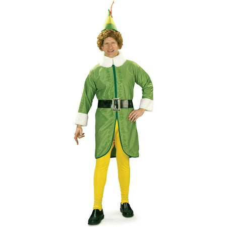 Buddy Elf Men's Adult Halloween Costume, XL](Elf Costume Adults Homemade)