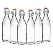 California Home Goods Glass Giara Bottles, Airtight Glass Bottles, Set of 6