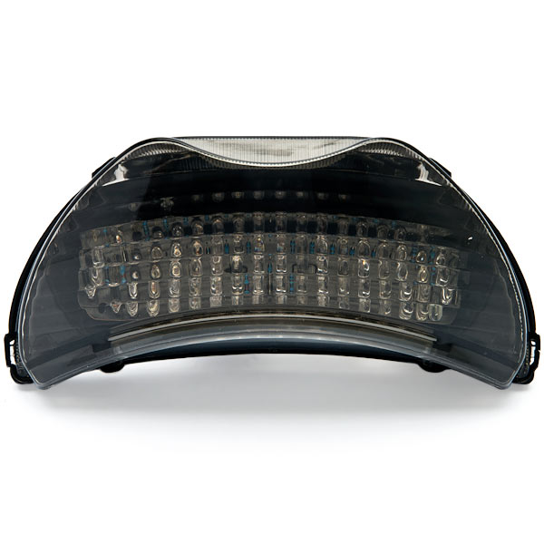 Krator Smoke LED Tail Light Integrated with Turn Signals For 1999 Honda CBR 600 F4 / CBR600F4
