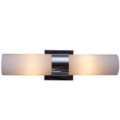 Gymax 2 Light LED Vanity Fixture Polished Chrome Wall Sconces Lighting  Bathroom