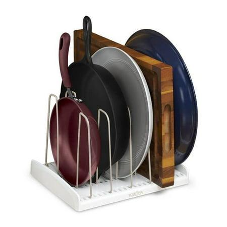 Cookware Storage Organizer Adjustable Rack  White - image 1 de 1