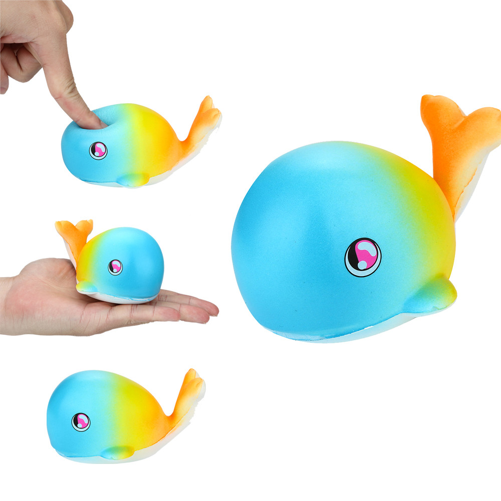 Outtop Stress Reliever Scented Super Slow Rising Kids Toy Cute Animal Toys Little Whale