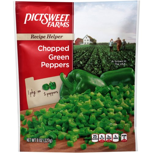 Pictsweet Chopped Green Peppers, 12 oz