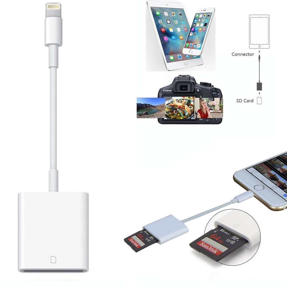 SD Card Reader & Micro SD To Lightning Cable Adapter for iPhone X 8 7 6 6S Plus | Walmart Canada