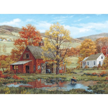 Jigsaw Puzzle Fred Swan 1000 Pieces 24  X30   Friends In Autumn