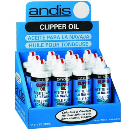 - ANDIS Clipper Trimmer Shaver Blade Lubricant Cleaner Oil 4 oz 12 x CL-12108