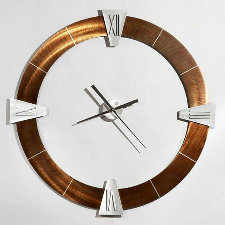 Jon Gilmore Deco Round Roman 36-Inch Wall Clock - Roman Round Shield