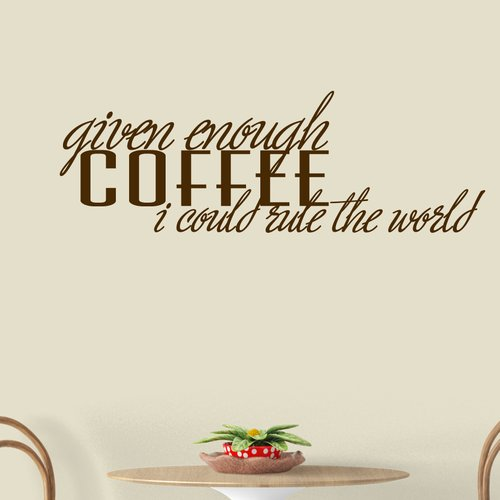 Winston Porter Beverlin Given Enough Coffee Wall Decal