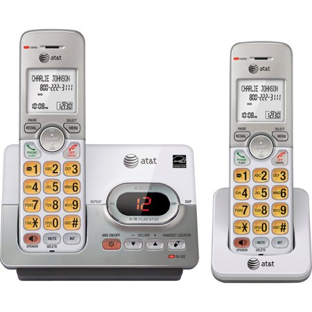 AT&T EL52203 2 Handset Cordless Answering System with Caller ID/Call Waiting, Gray (New Open Box)