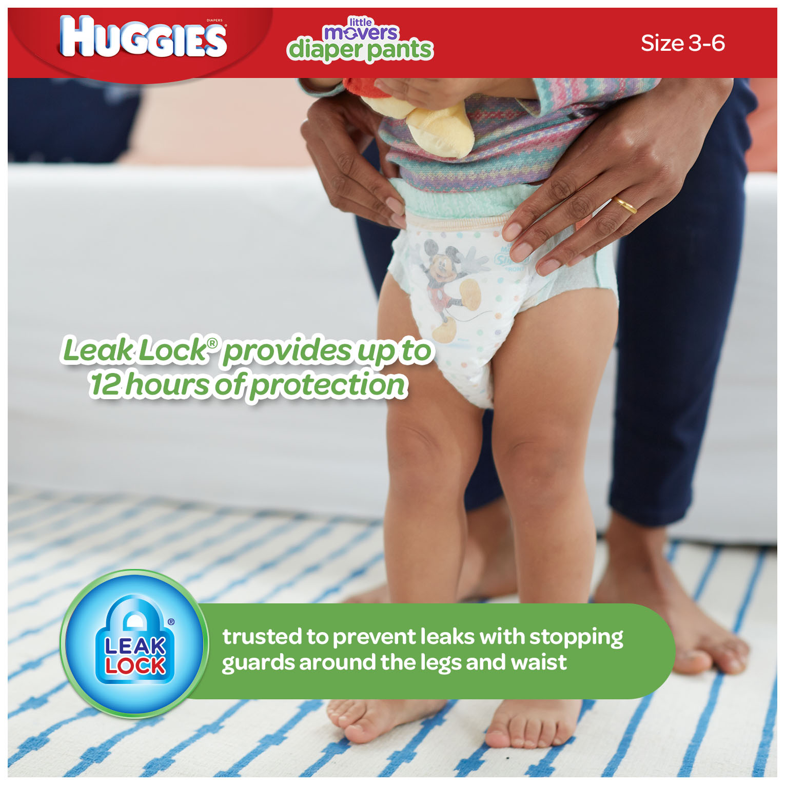 HUGGIES Little Movers Slip-On Diaper Pants, Size 3, 88 Diapers ...