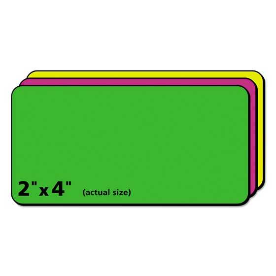 Avery High Visibility Permanent Id Labels Laser 2 X 4 Asst Neon