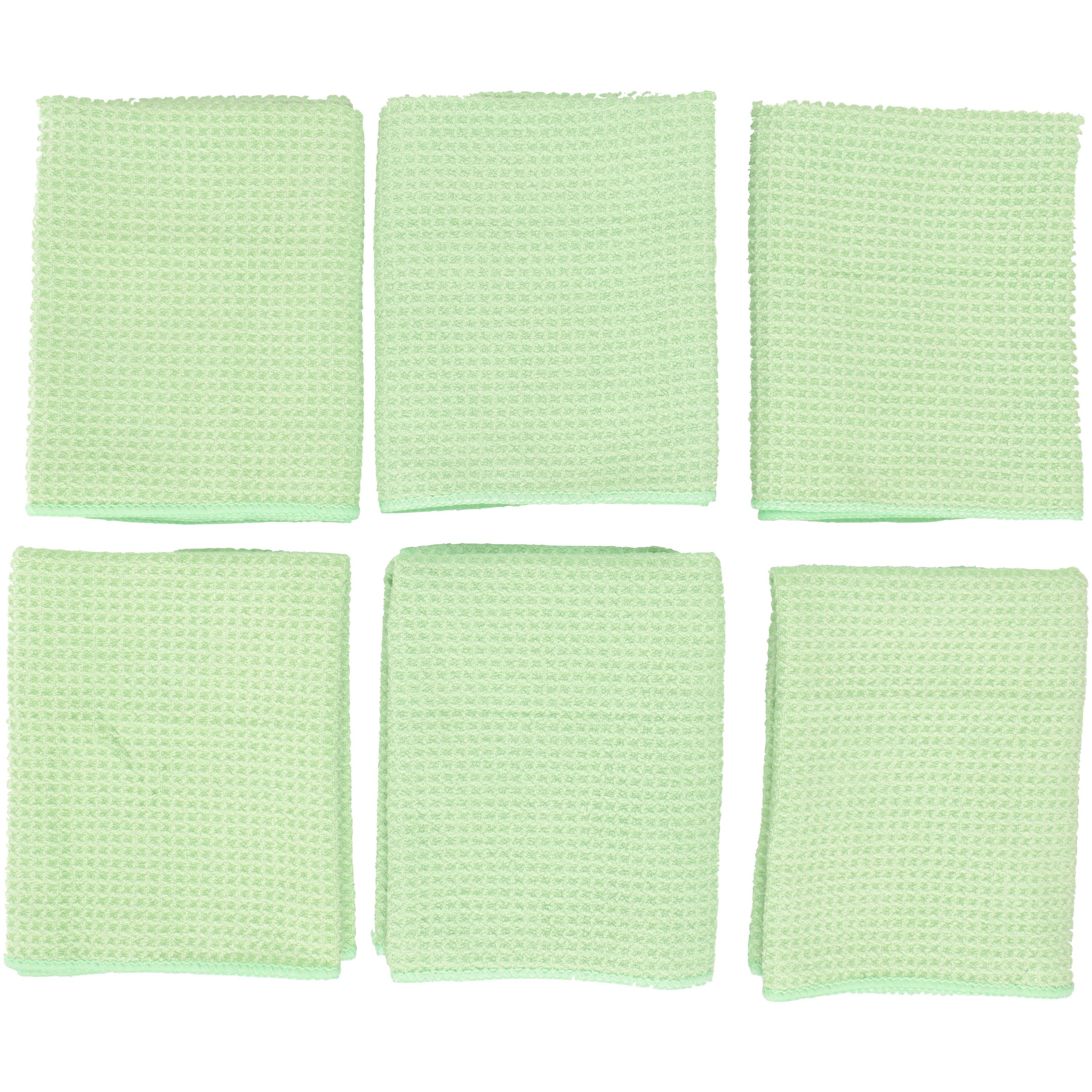 Zwipes Microfiber Large Green Bar, Wine, and Stemware Towels 6 ct Pack
