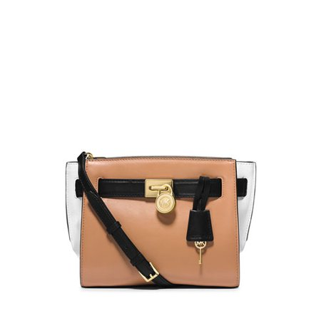 f2ea229b7ed7 Michael Kors - MICHAEL Michael Kors Hamilton Traveler Messenger Bag in  Suntan-Black - Walmart.com