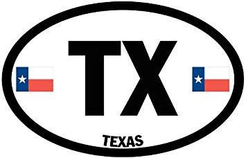 Texas Flag Decal 3X5-Inch.