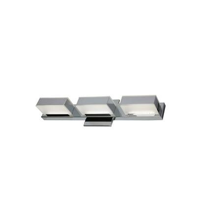 Dainolite 3 Light LED Wall Vanity, Polished Chrome Finish Polished Chrome Finish Wall