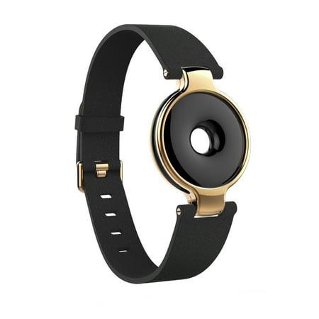 Image of Amazfit Moonbeam Wrist Band Accessory (Black Leather & Rose Gold) - Requires Amazfit Tracker