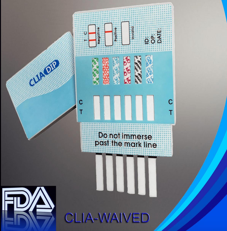 MiCare - [10 Pack] 6 Panel Instant Urine Drug Test - Marijuana (THC), Cocaine (COC), Opiates (OPI), Methamphatemine (mAMP), Amphetamine (AMP), Benzodiazepines (BZO) - MCTDOA-264