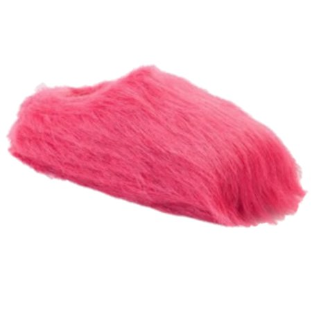 so womens plush pink faux fur clog slippers scuffs fuzzy house shoes