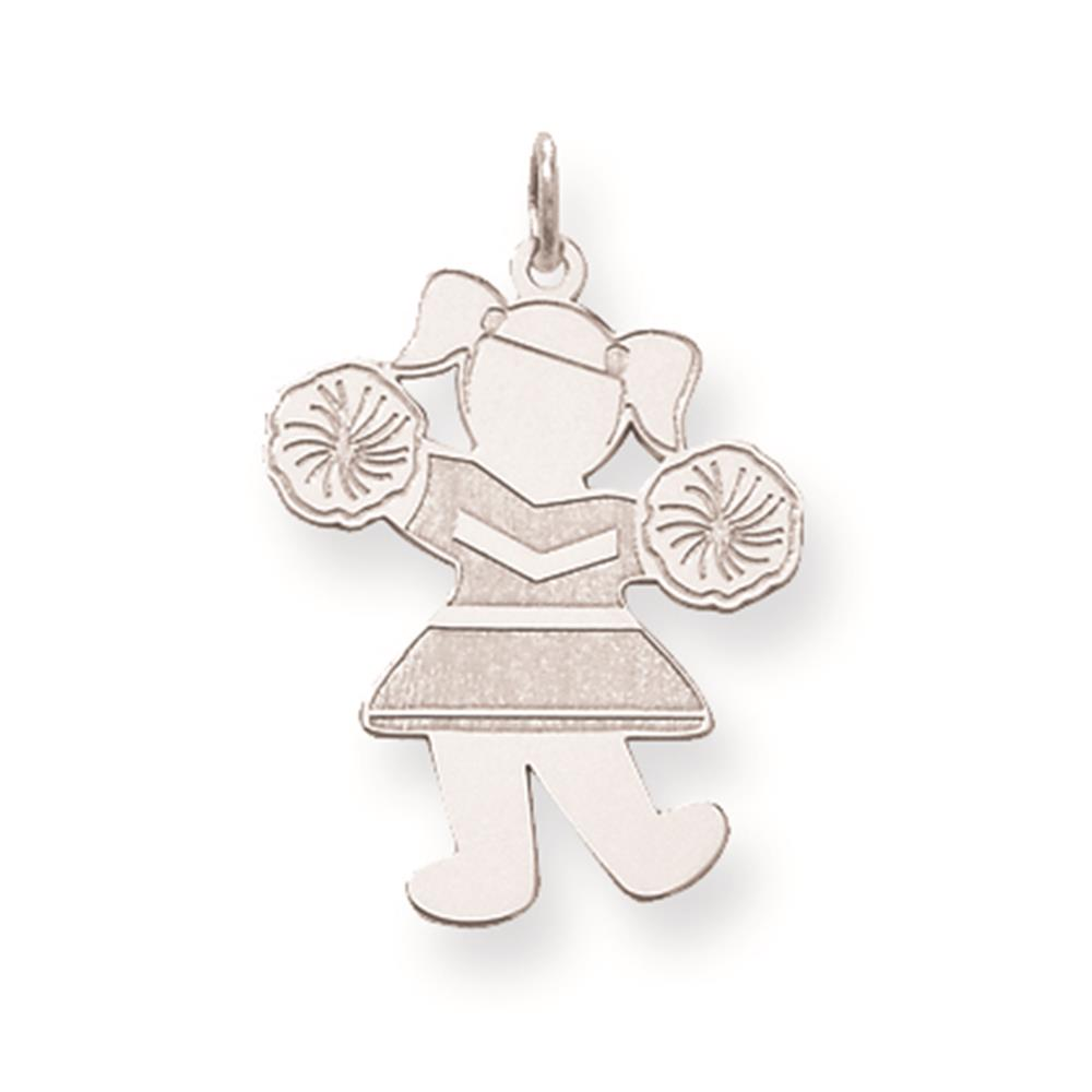 Laser-cut Hip Hip Hooray Cuddle Solid Polished Charm Pendant 925 Sterling Silver