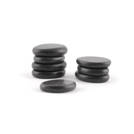Massage Ovular Toe Basalt Stones Specially Design For HOT! Foot Treatments and Optimal Comfort Set Deluxe 8 (Design Stone Set)