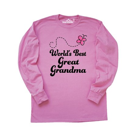 Worlds Best Great Grandma Gift Long Sleeve (Best Mens Suits In The World)