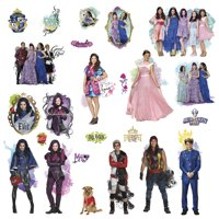 DISNEY DESCENDANTS 24 Wall Decals MAL EVIE Room Decor Stickers Isle of the Lost