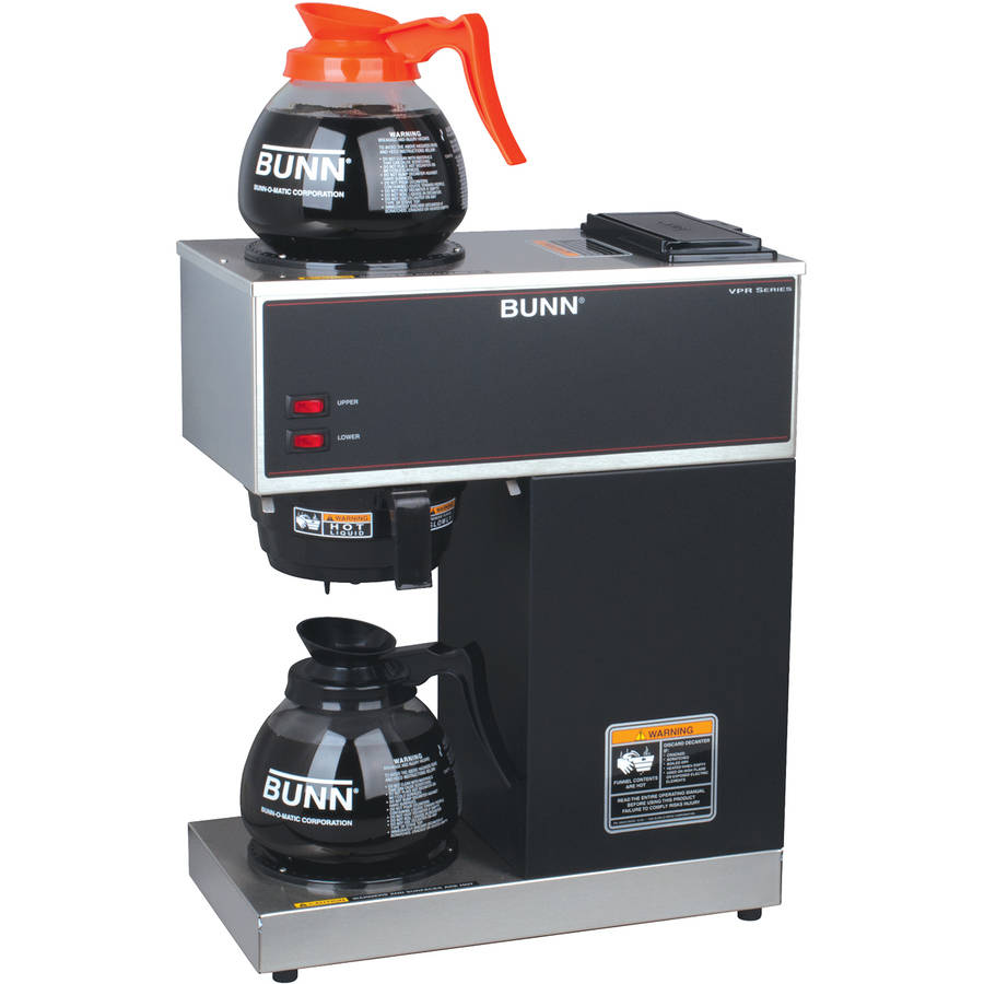 BUNN VPR 12-Cup Commercial Coffee Brewer with Two Glass Decanters, 2 Warmers, 33200.0015