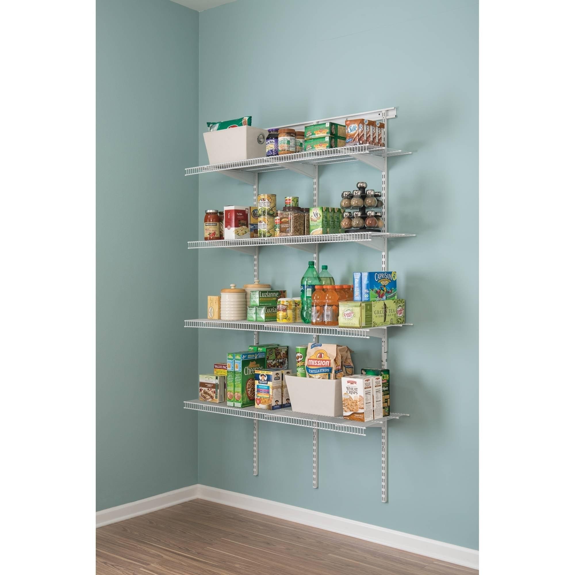 ClosetMaid Shelf Track 4\' Utility Org Kit, White - Walmart.com